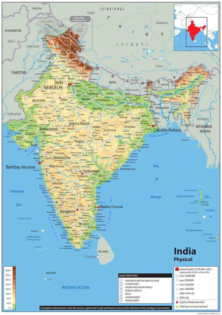 India physical map i love maps india physical map gumiabroncs Images