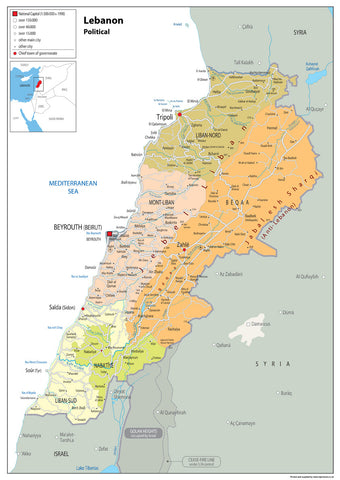 Lebanon Political Map