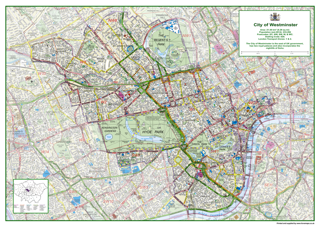 London Sw Map.Westminster London Borough Map I Love Maps