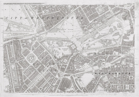 London 1872 Ordnance Survey Map - Sheet XLIII - Westminster