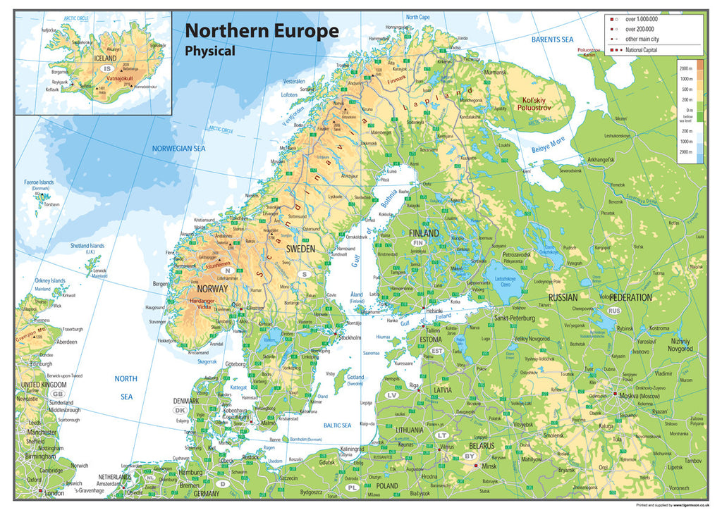 Northern Europe Physical Map I Love Maps - Europe physical map