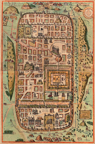Ancient Map of Jerusalem by Georg Braun and Frans Hogenberg - 1612