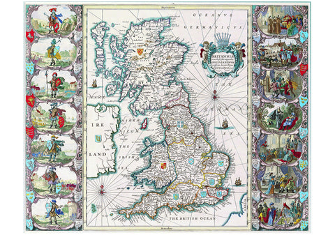1676 British Isles Map by John Speed