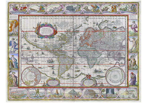 1635 World Map by Willem Blaeu