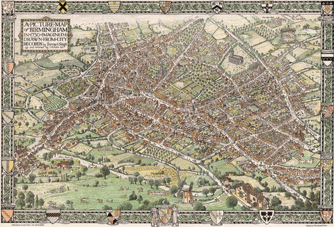 18th Century Birmingham City Map