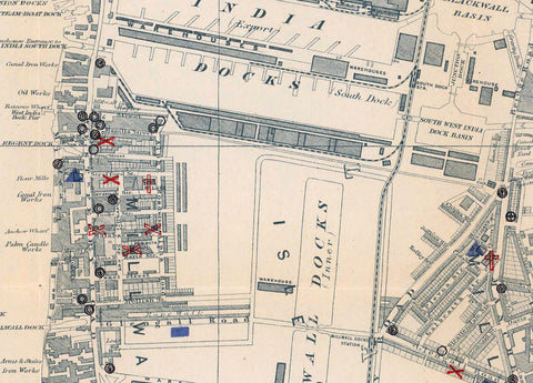Charles Booth London Poverty Map 1899-1900 - Schools & Churches