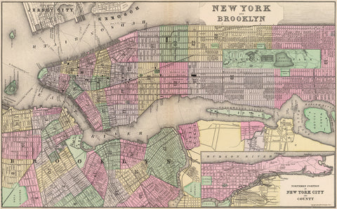 New York and Brooklyn - 1886