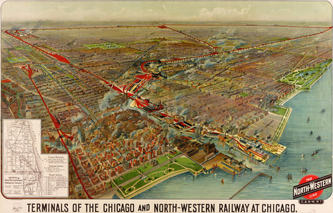 Terminals of the Chicago and North-Western Railway at Chicago - 1902
