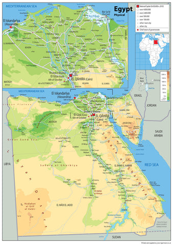 Egypt Physical Map