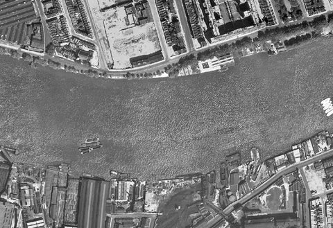 Post-War 1947 London Aerial Map - Sheet 19 - Belgravia