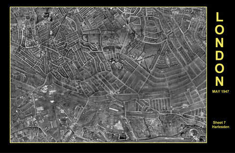Post-War 1947 London Aerial Map - Sheet 7 - Harlesden