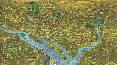 Pictorial Map of Washington D.C - 1938