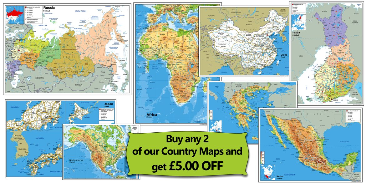 I Love Maps We sell a large diverse range of maps from around the