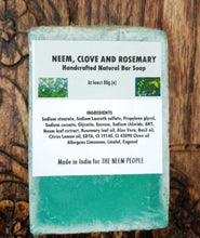 Load image into Gallery viewer, Neem, Clove and Rosemary Soap