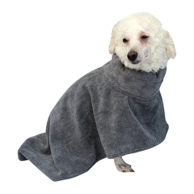 Dog Bathrobe Pet Drying Towel Pet Dog Bath Towel For Small Medium Large Dogs 400g Microfiber Super Absorbent Cloak Bath Towels