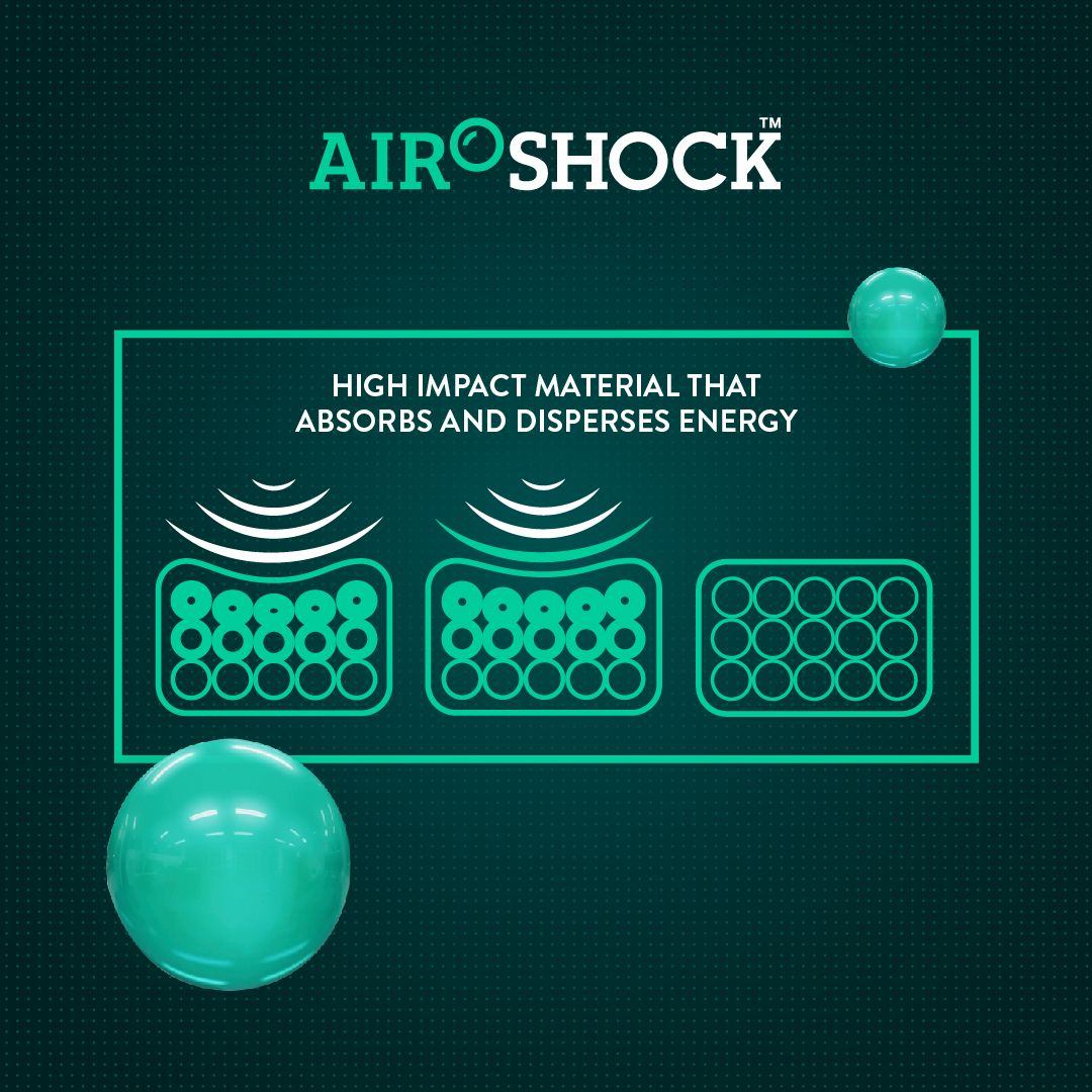 Airoshock™ technology unique to Mous phone cases & AirPod cases