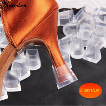 Load image into Gallery viewer, 2 Pairs High Heel Protectors Latin Stiletto Dancing Covers Heel Stoppers Antislip Silicone High Heeler For Women Wedding Shoes