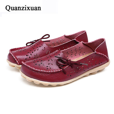 c4e48d9ef05 Boat Shoes Women Casual Flats Shoes Female Autumn Fashion Hollow Out Shoes  Comfortable Loafers Women Shoes