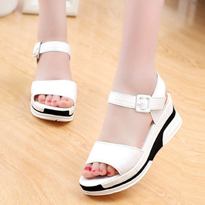 886cb9e03 Fashion Summer Sandals Shoes For Women Peep-toe Low Shoes Roman Sandals  Ladies Open Toe Flip Flops Sandalias Mujer Flat Slippers