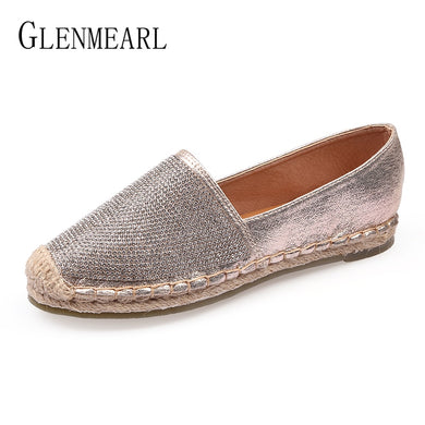 0f8011eced2a Fisherman Shoes Women Flats Casual Round Toe Spring Lazy Loafers Bling Woman  Single Sneakers Summer Shoes