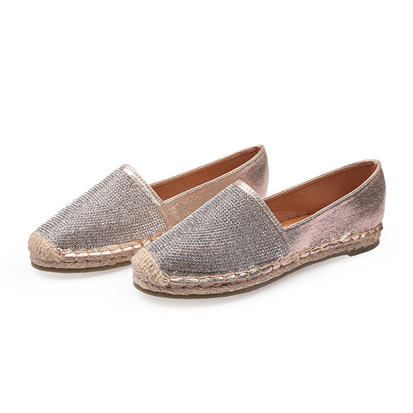 Fisherman Shoes Women Flats Casual Round Toe Spring Lazy Loafers Bling Woman Single Sneakers Summer Shoes Brand Female Flats DE