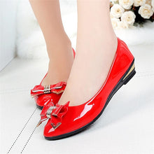 Load image into Gallery viewer, Spring Autumn Toe Heels Bow Tie Women Shoes Fashion Women's Shoes Casual Shoes Woman Moccasins Zapatos Mujer Black White Red