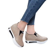 Load image into Gallery viewer, Women Flat Shoes Slip On Casual Platform Shoes women winter platform shoes woman women's casual genuine leather shoes slip on
