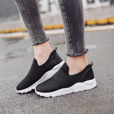 ladies sneakers 2018 Women Fashion Flats  Mesh Breathable Shoes Casual Running Shoes platform Sneaker ladies shoes #NFA