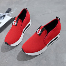 Load image into Gallery viewer, Increased Net Shoe Women Casual Shoes Breathable Mesh Slope Thick Platform Shoes  T80726