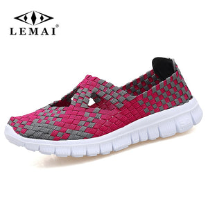 018 Spring women flats shoes women woven shoes flat sneakers shoes ballet flats female multi eva loafers ladies shoes 609