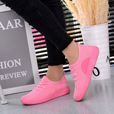 Women's Breathable Shallow Mouth Shoes Flying Woven Candy Color Student Net Shoe for dropshipping 20180823