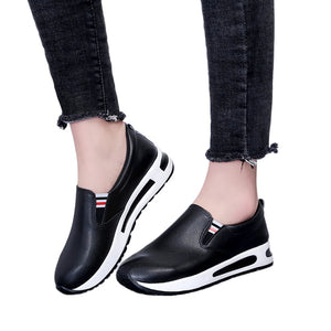 Women Flat Thick Bottom Shoes Slip On Ankle Boots Casual Platform Sport Shoes  women vulcanize shoes platform sneakers #H3