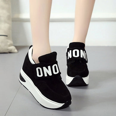 Women Platform Sneakers Mesh Casual Sports Shoes Thick-Soled Increase Shoes Shake Shoes women designer sneakers women platform