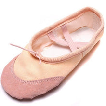 Load image into Gallery viewer, 1 Pair Soft Women Dancing Ballet Shoes Women Summer Winter Comfortable Fitness Breathable Canvas Practice Gym Dance Shoes