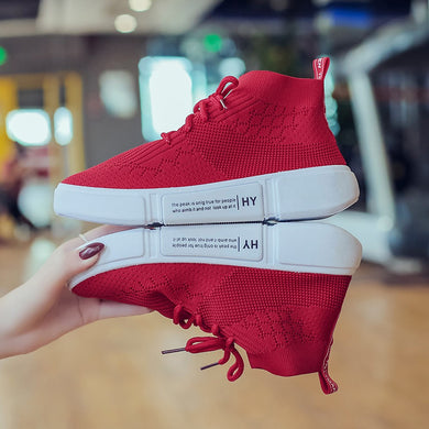 Shoes woman Girl Mesh Breathable Round Toe Lace-up Sneakers Running Casual Shoes zapatillas mujer