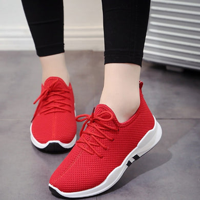 Women Running Trainers Lace Up Flat Comfy Fitness Gym Sports Shoes Casual Shoes New Arrival 2018 Hot Sale High Quality Casual