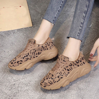 YOUYEDIAN Women Sneakers 2018 Casual Shoes Winter Leopard Print Fashion Female Running Platform Sneakers Zapatillas Mujer