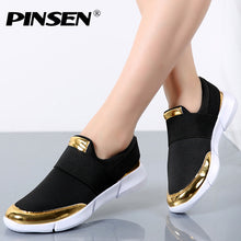 Load image into Gallery viewer, PINSEN Brand Women Casual loafers Breathable Summer Flat Shoes Woman Slip on Casual Shoes New Zapatillas Flats Shoes Size 35-42