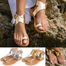 Load image into Gallery viewer, MORBARRZ Summer Cross Belt Rome Sandals Women 2018 Fashion Strappy Gladiator Low Flat Shoes Open Toe Beach Sandals Shoes