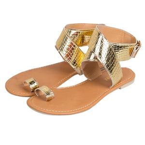 MORBARRZ Summer Cross Belt Rome Sandals Women 2018 Fashion Strappy Gladiator Low Flat Shoes Open Toe Beach Sandals Shoes