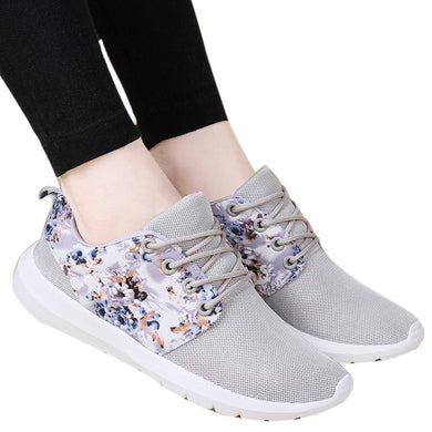 Sneakers Women Trainers Breathable Print Flower Casual Shoes Mesh Low Top Shoes  New Arrival 2018 Hot Sale High Quality Casual