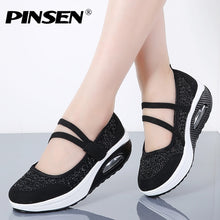 Load image into Gallery viewer, PINSEN 2019 Summer Women Flat Platform Shoes Woman Breathable Mesh Casual Shoes Moccasin Zapatos Mujer Ladies Boat Shoes