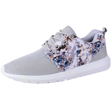vulcanize shoes platform women Sneakers Women Trainers Breathable Print Flower Casual Shoes Mesh Low Top Shoes  #NFA