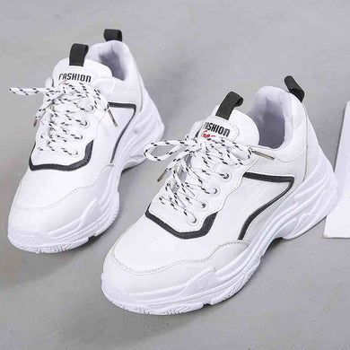New 2018 Spring Fashion Women Casual Shoes Suede Leather Platform Shoes Women Sneakers Ladies White Trainers Chaussure Femme#2