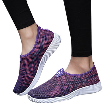YOUYEDIAN sneakers women 2018 respiran Shoe Slip-On Outdoor Casual Shoe Breathable Mesh Breathable  scarpe donna estive nere#G30