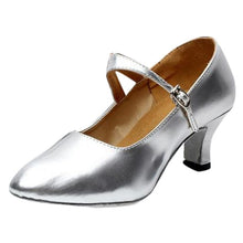 Load image into Gallery viewer, Women Closed Toe  Party Shoes Glossy Shoes Closed Indoor Tango Rumba Ballroom chaussure femme talon bas #L4