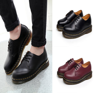 Xiniu Newest Fashion Couple Retro Low-Heeled  Round Head Tooling Shoes Non-slip Leather Boots High Quality botas feminina