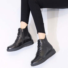 Load image into Gallery viewer, Xiniu High Quality Fashion Women British Thick Soled Lace Up Short Boots Warm Increase High Shoes botas mujer