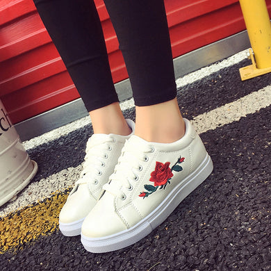 YOUYEDIAN Fashion women casual shoes women sneaker shoes Straps Sneakers Embroidery Flower Shoes sapatos mulher altos # G30
