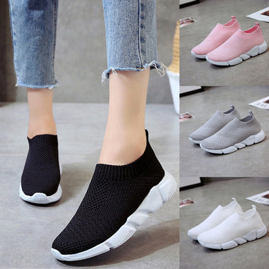 Women Outdoor Mesh Shoes Casual Slip On Comfortable Soles Running Sports Shoes